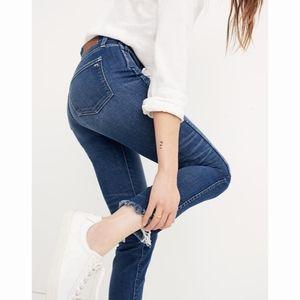Madewell Raw Hem Straight Ankle Jeans